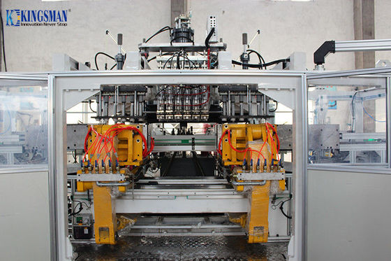 6 Cavity Heads HDPE Blow Moulding Machine , PE PP Blow Moulding Machine