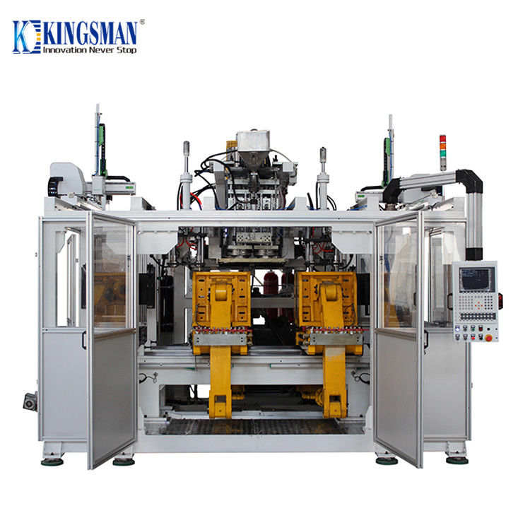 High Speed Double Station Blow Moulding Machine , Jerry Can Blow Molding Machine