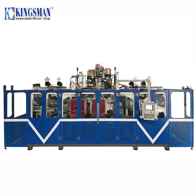 Blue Double Station Blow Moulding Machine 18M³/h Cooling Water Consumption