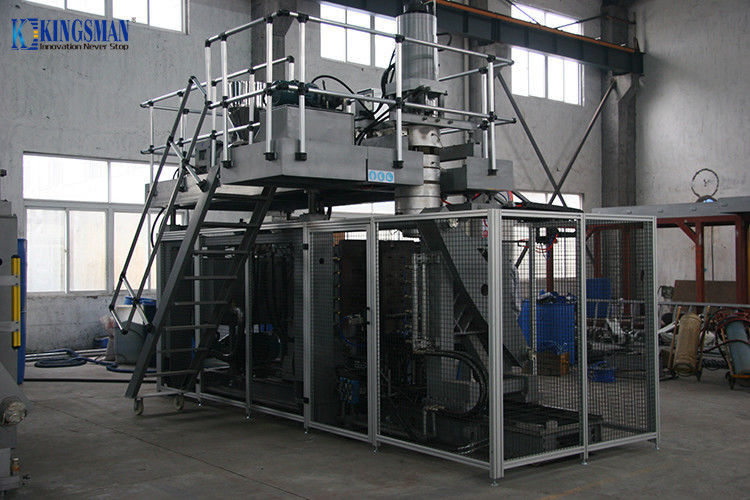 12 Ton Plastic Drum Blow Molding Machine , HDPE Blow Moulding Machine